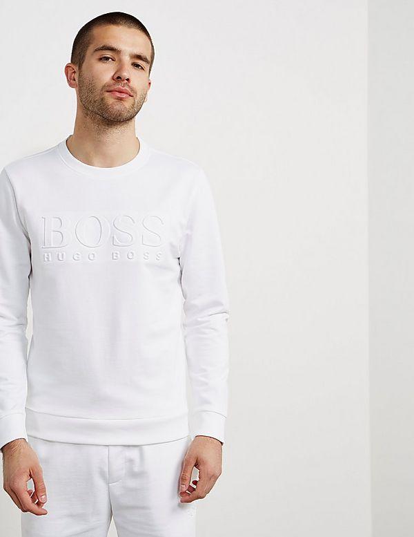 BOSS Embossed Crew Sweatshirt