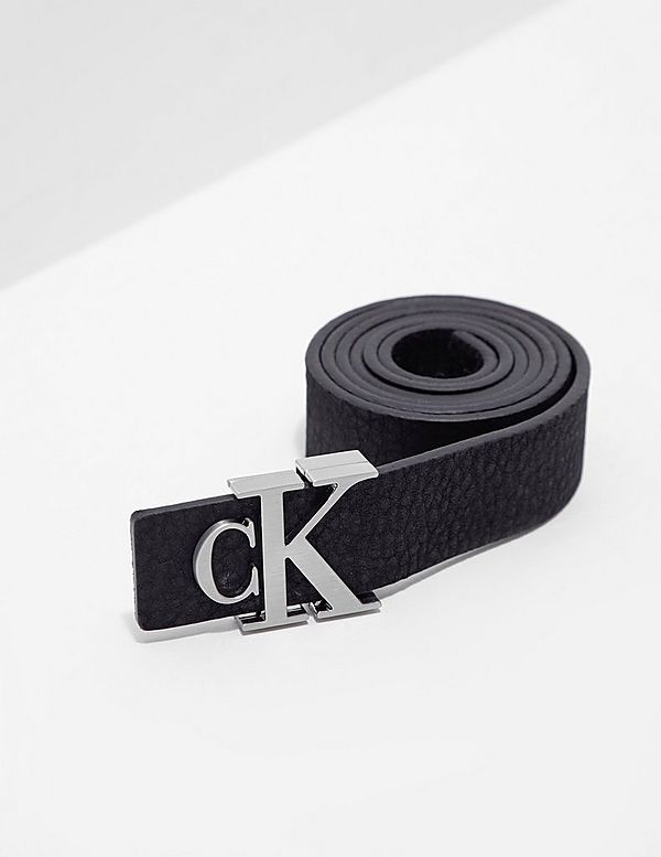 Calvin Klein Jeans Monogram Leather Belt