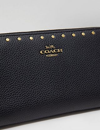 COACH Rivet Accordion Zip Around Purse