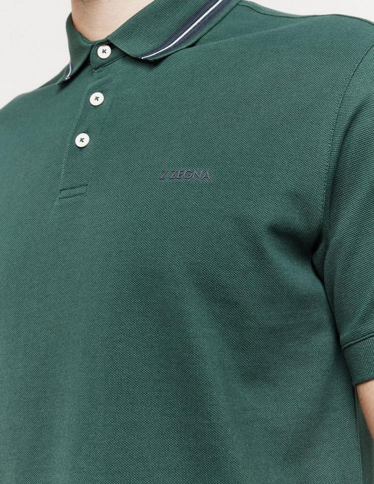 Z Zegna Tipped Short Sleeve Polo Shirt