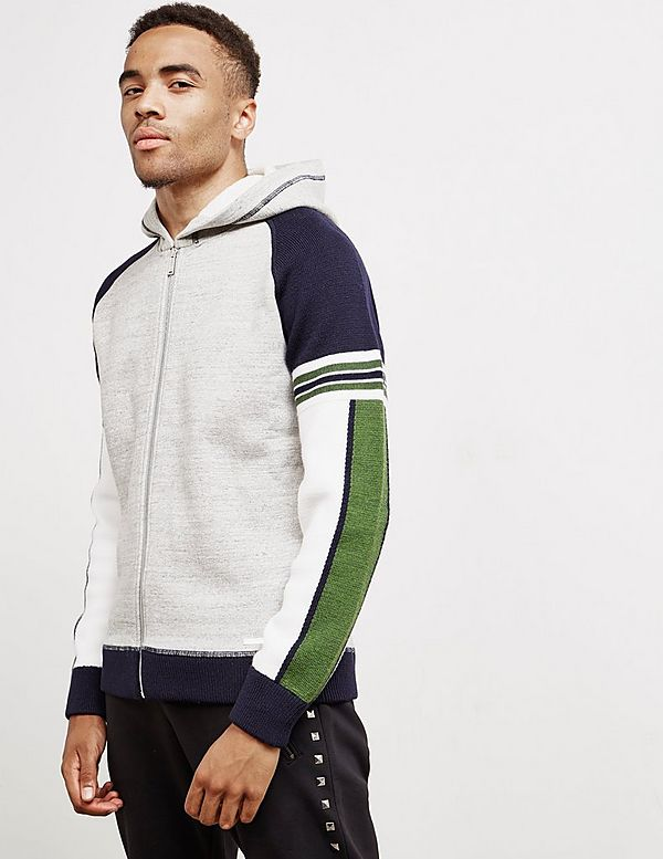 Dsquared2 Knit Panel Full Zip Hoodie - Online Exclusive