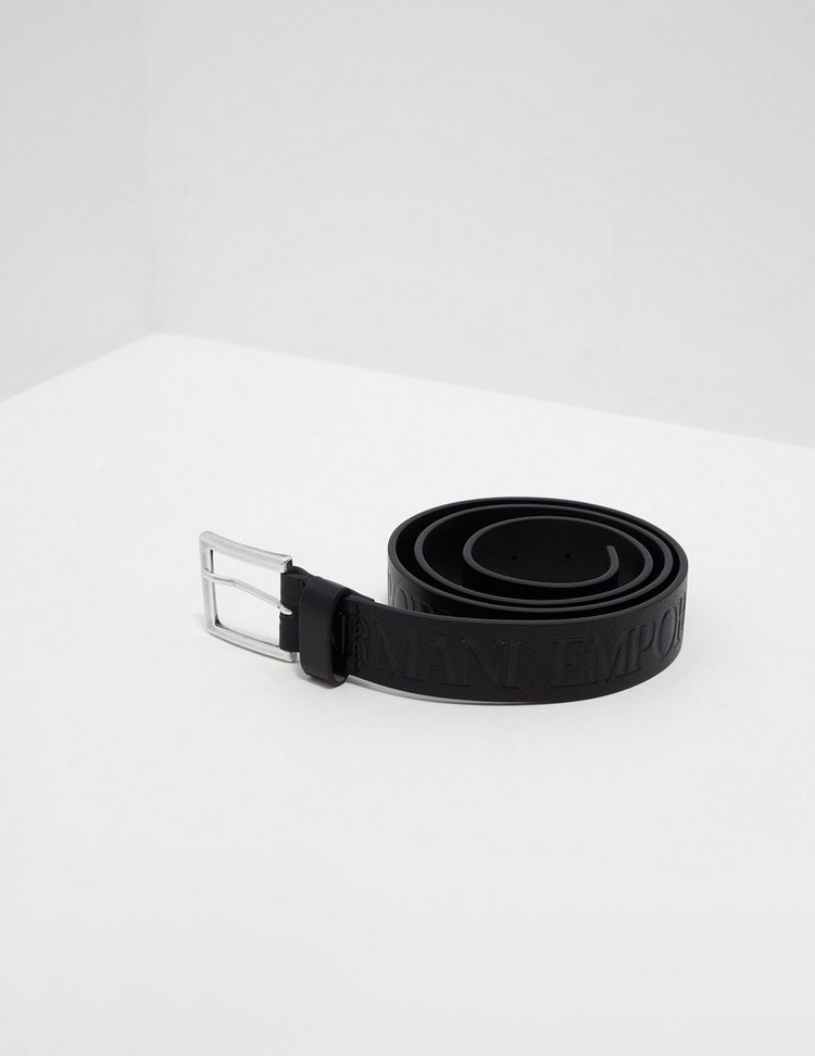 Emporio Armani Leather Eagle Belt