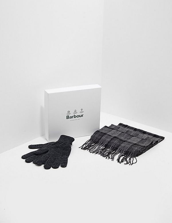 Barbour Scarf & Gloves Gift Set