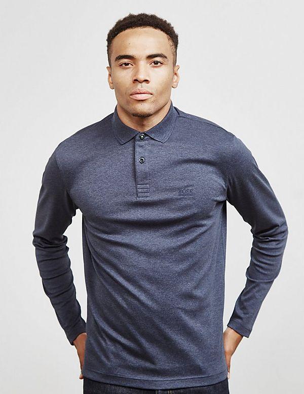 526a5d9e BOSS Pirol Long Sleeve Polo Shirt | Tessuti