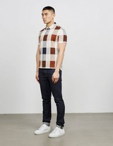 Aquascutum Cody Oversize Check Short Sleeve Polo Shirt