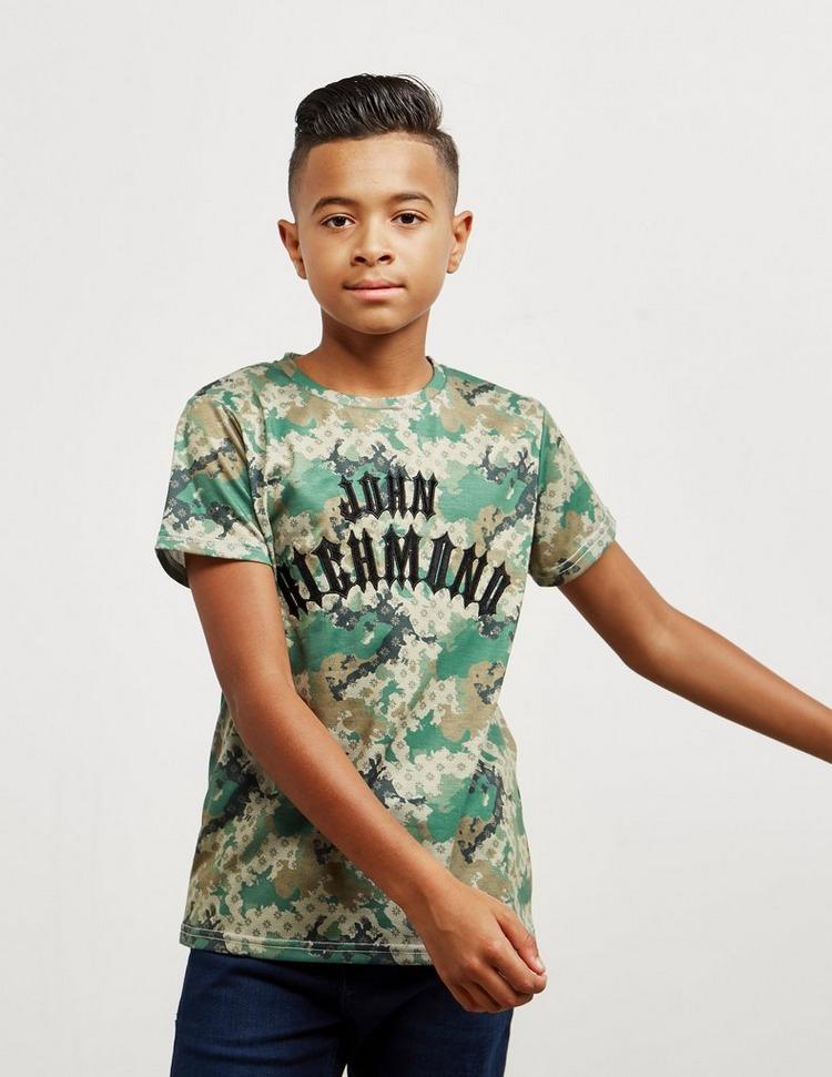 John Richmond Camouflage Short Sleeve T-Shirt