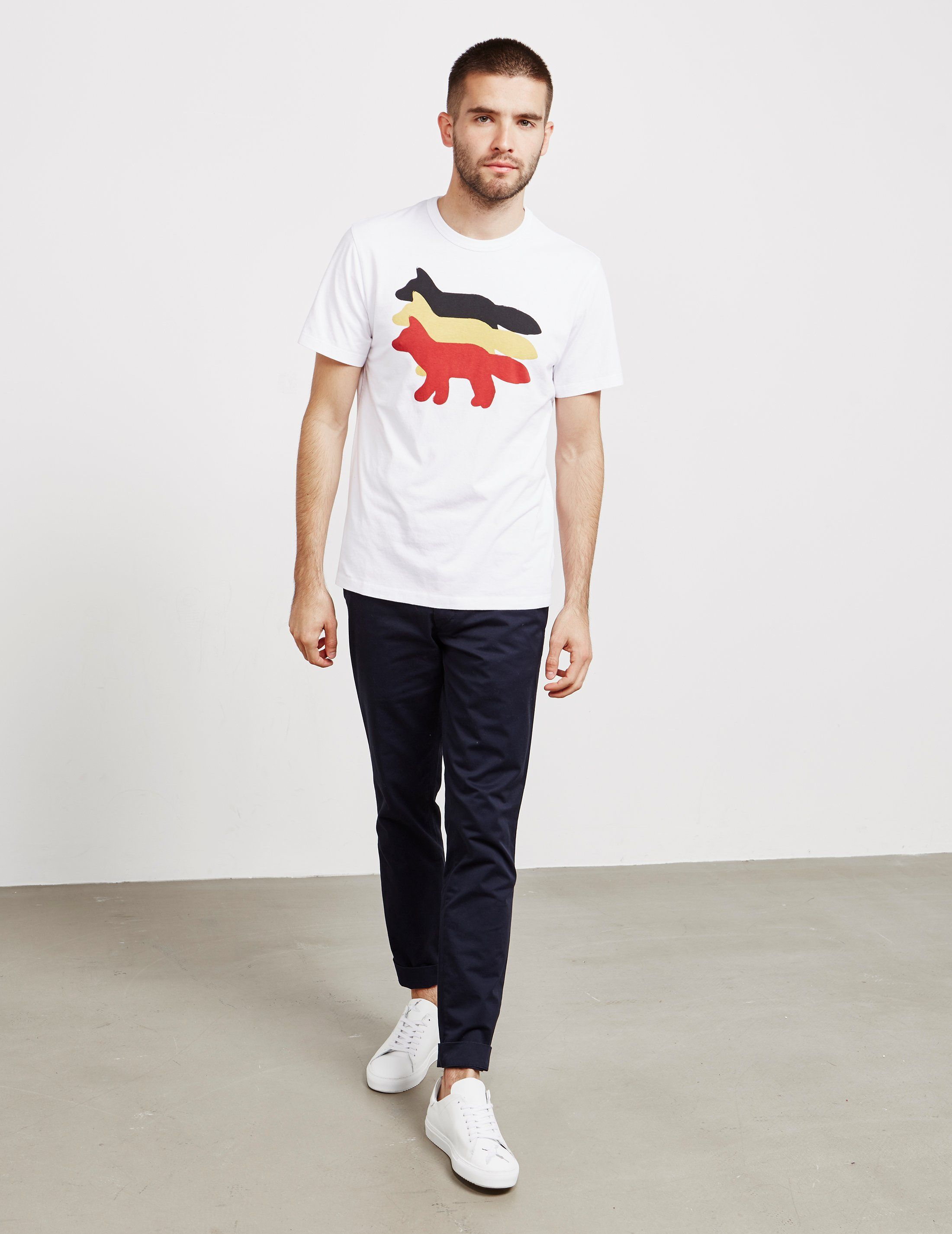 Maison Kitsune Foxes Short Sleeve T-Shirt - Online Exclusive