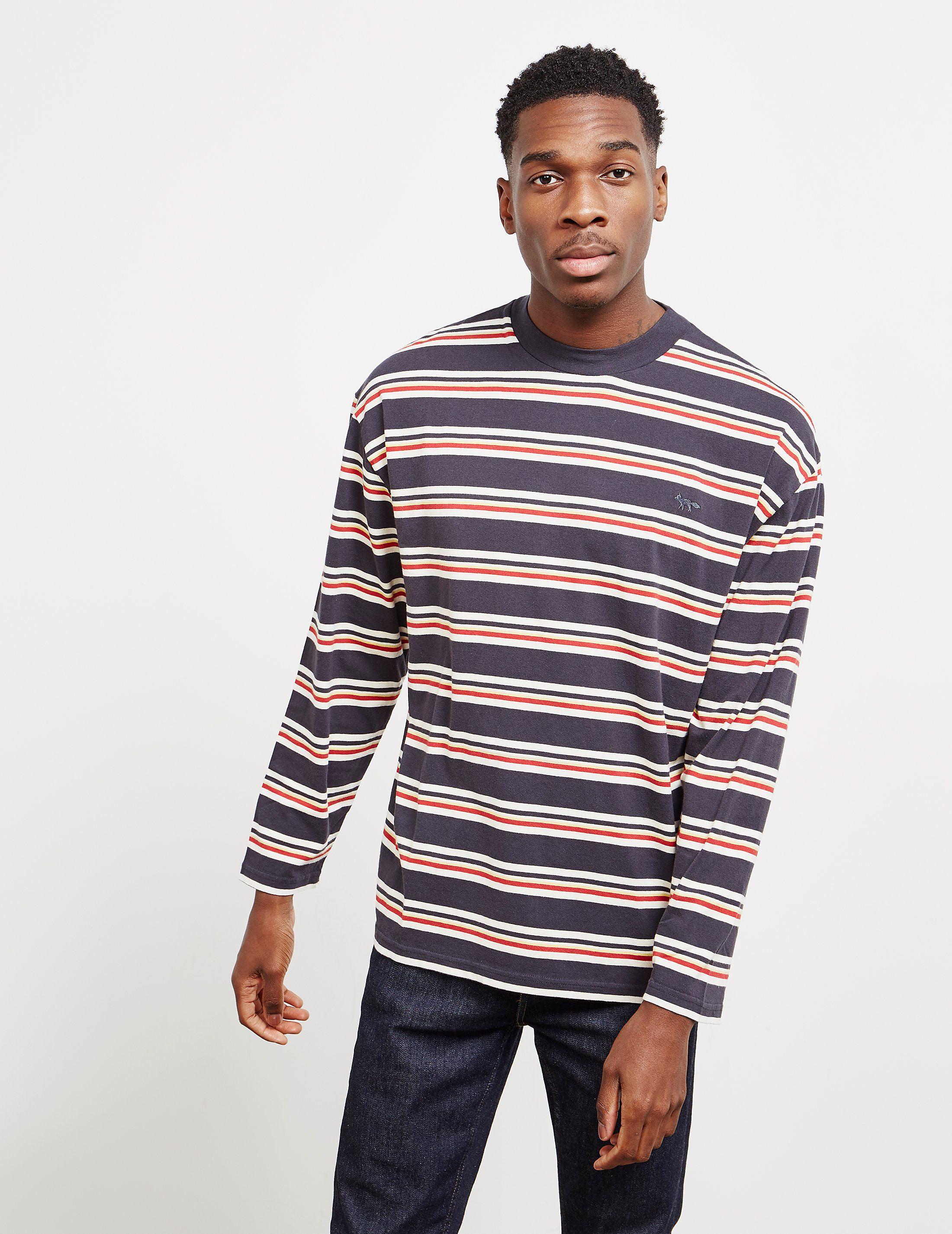 634d5e528d1879 Maison Kitsune Striped Long Sleeve T-Shirt