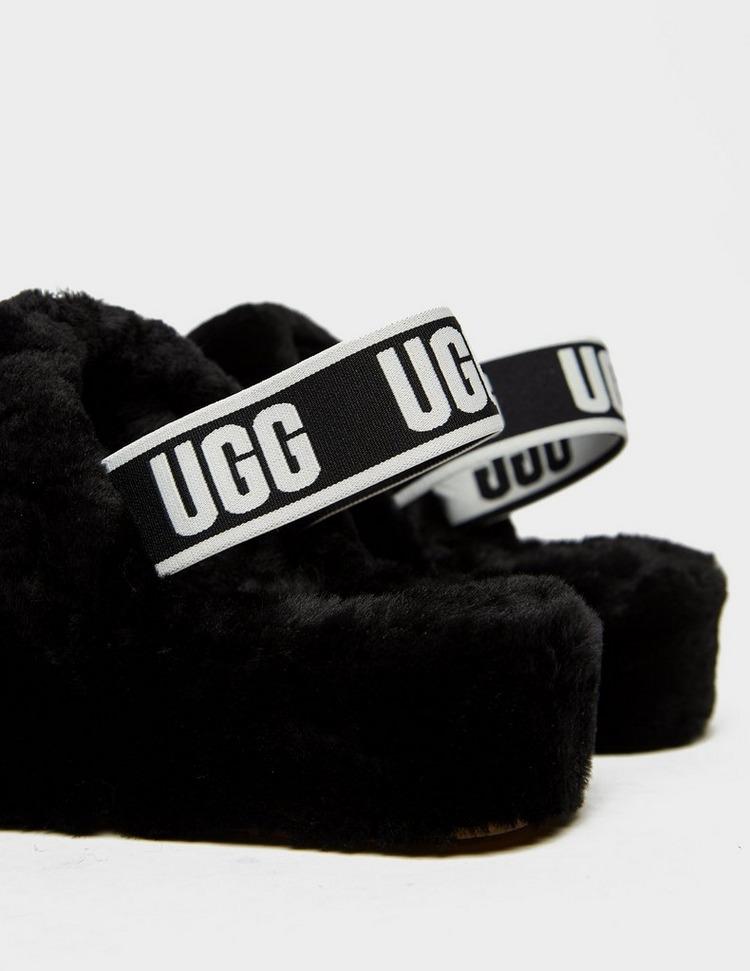 UGG Fluff Yeah Logo Slides Women's