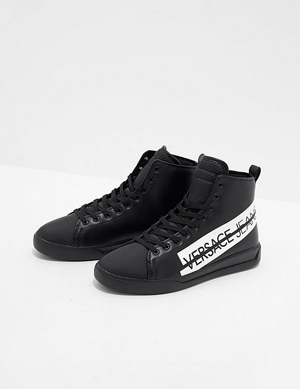 827652d95 Versace Jeans Logo High Top Trainers