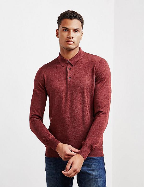 Gran Sasso Silk Long Sleeve Polo Shirt - Online Exclusive