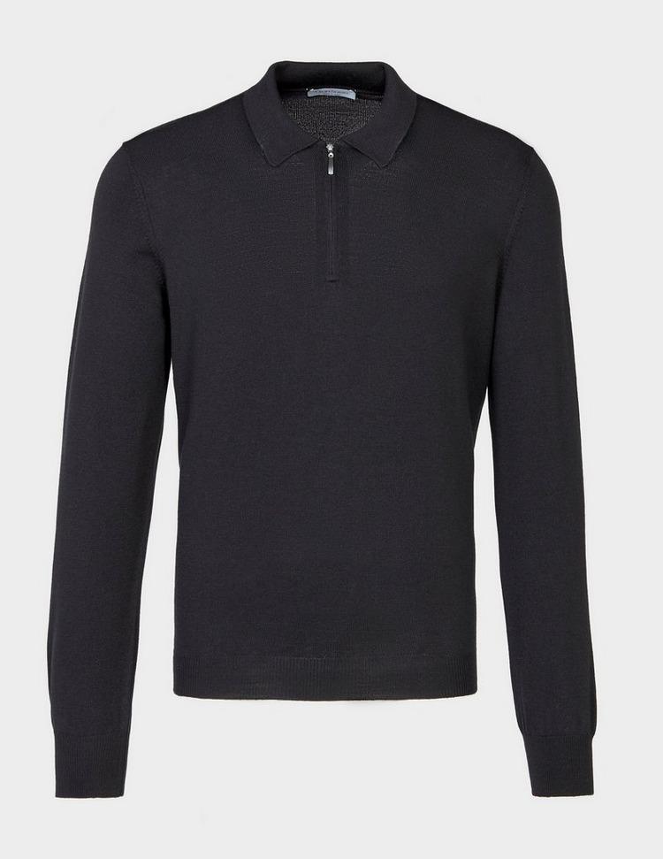 Gran Sasso Zip Long Sleeve Polo Shirt