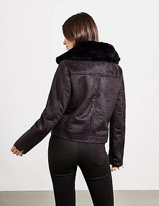 DKNY Faux Suede Jacket
