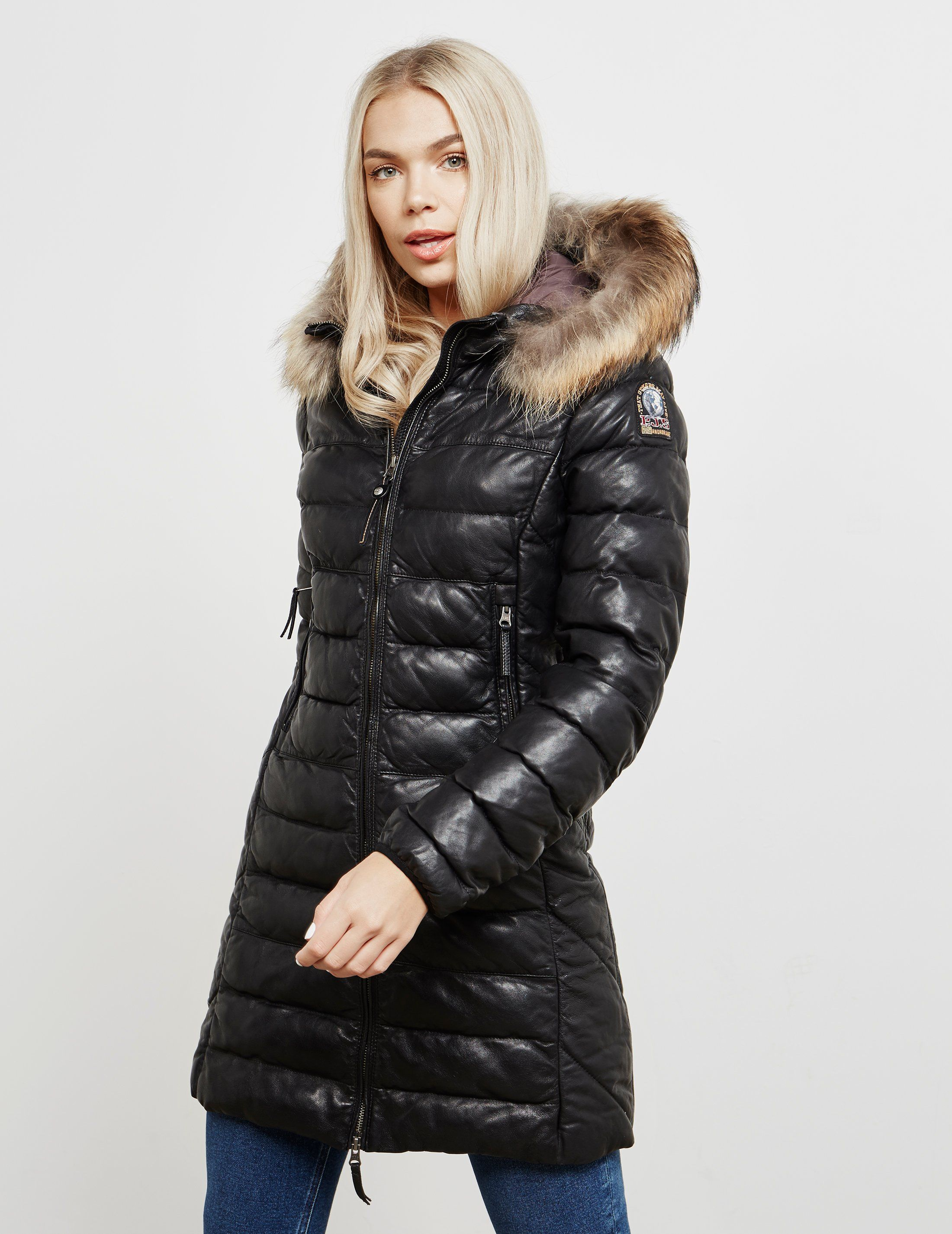 Parajumpers Demi Leather Parka Jacket - Online Exclusive
