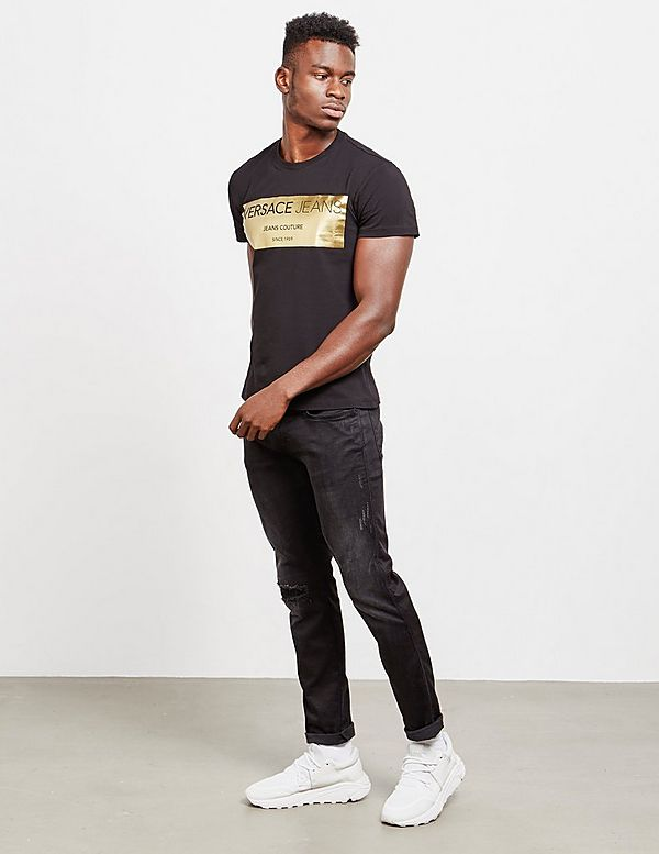 Versace Jeans Couture Foil Square Short Sleeve T-Shirt