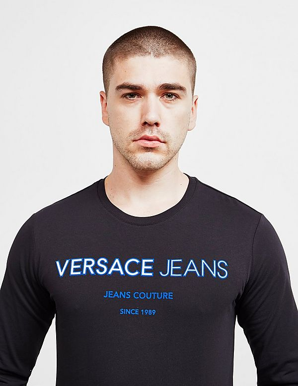 Versace Jeans Couture Emboss Logo Long Sleeve T-Shirt