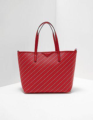 Karl Lagerfeld Stripe Logo Shopper Bag