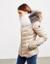 Froccella Chevron Big Fur Jacket