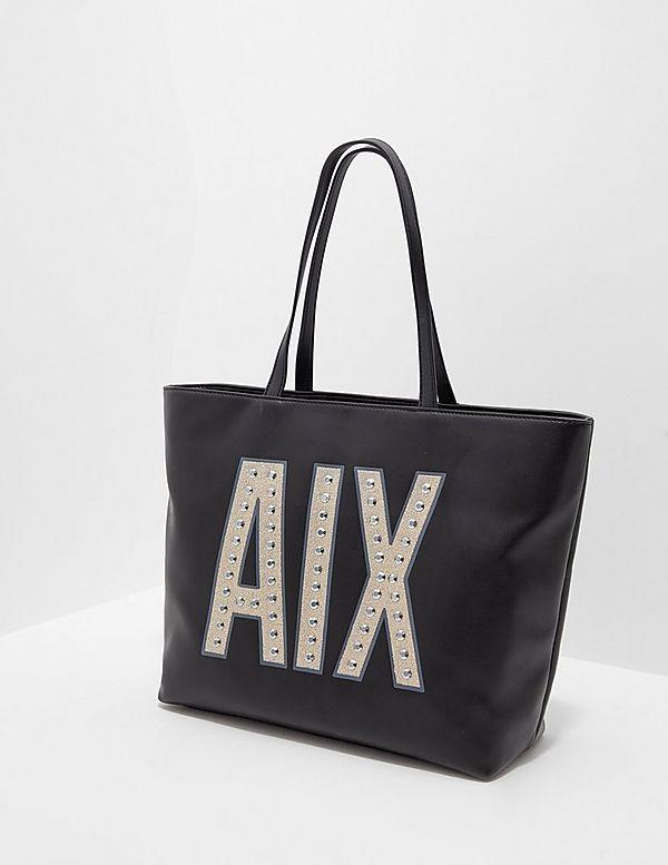fd425f319c0548 Armani Exchange Zip Tote Shopper Bag | Tessuti
