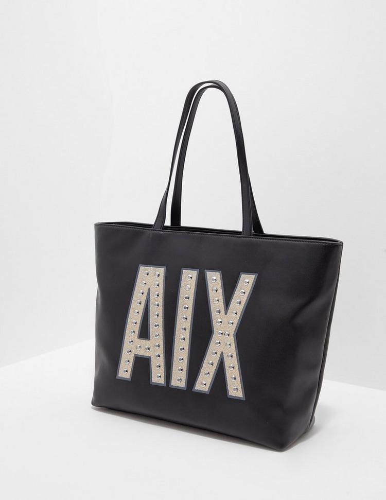 Armani Exchange Zip Tote Shopper Bag