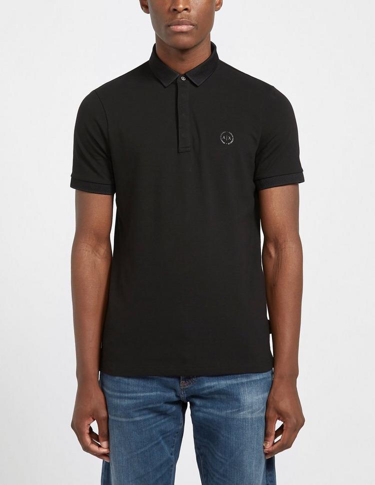 Armani Exchange Nylon Short Sleeve Polo Shirt