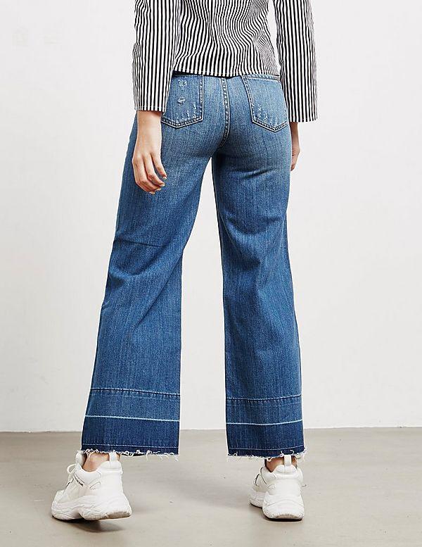 Armani Exchange Vintage Wide Cropped Jeans