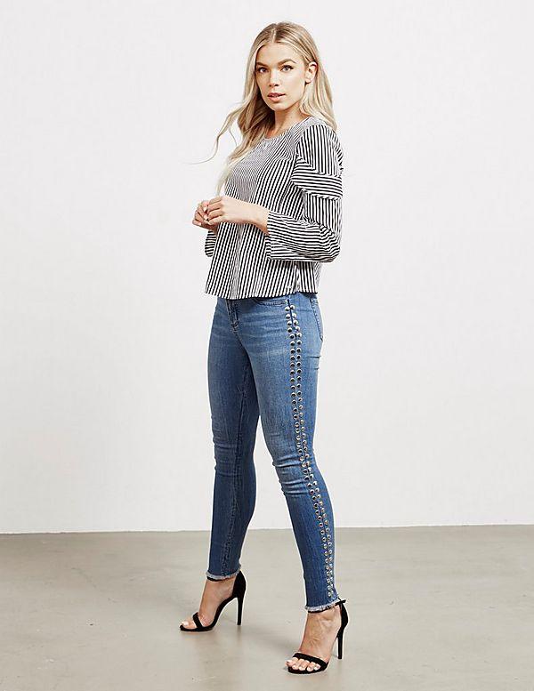 Armani Exchange Cropped Super Skinny Jeans
