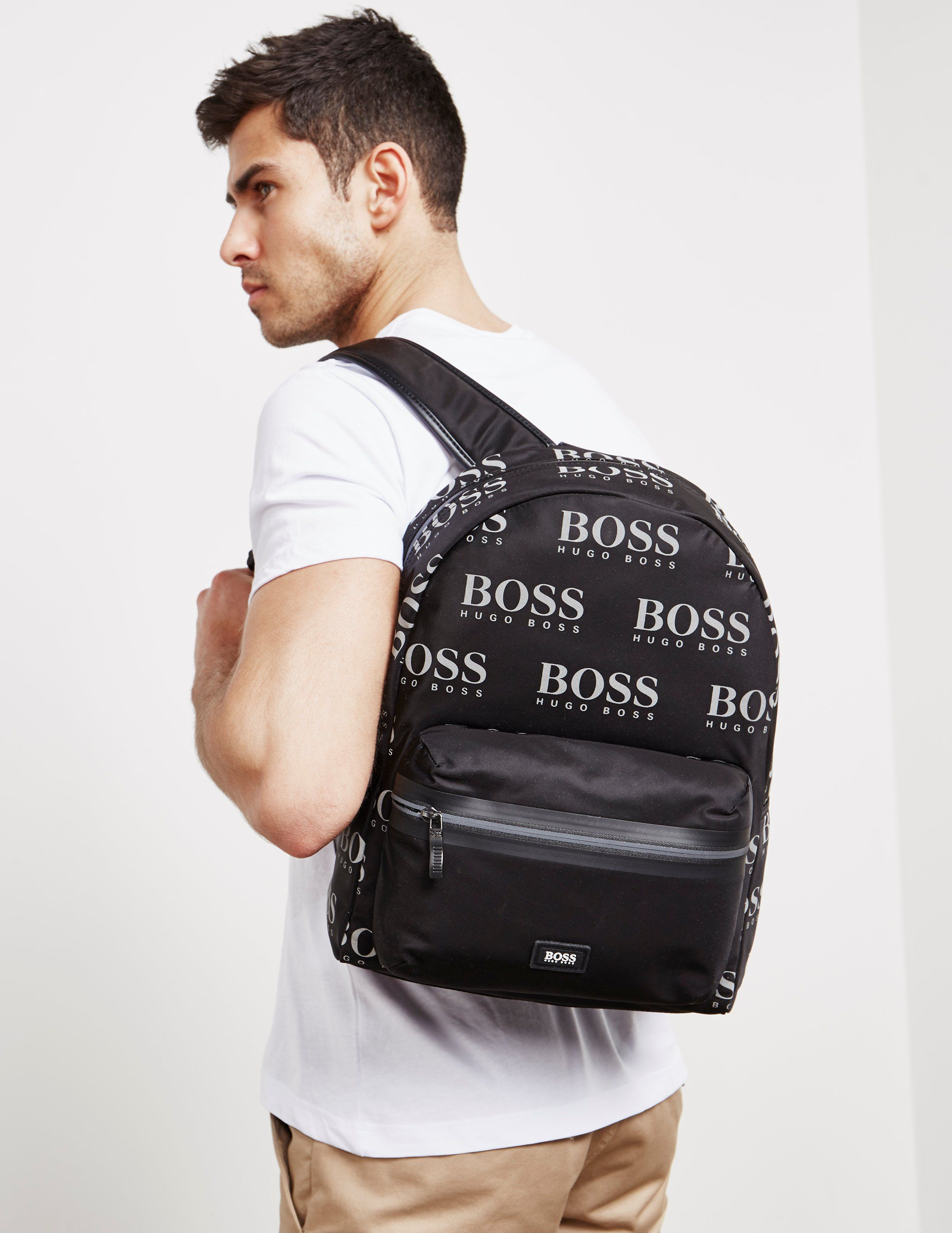 BOSS Iconic Print Backpack