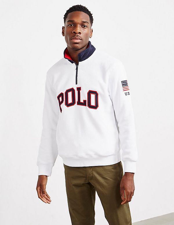 Half Polo SweatshirtTessuti Lauren Zip Fleece Ralph wXTkiOPZu