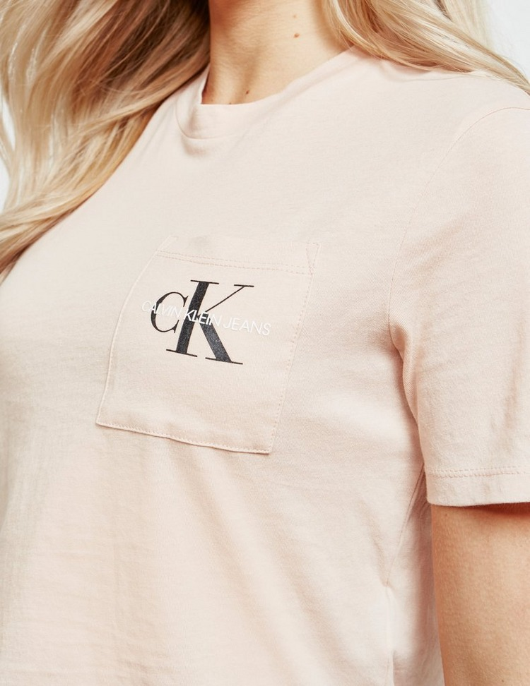Calvin Klein Jeans Monogram Cropped Short Sleeve T-Shirt