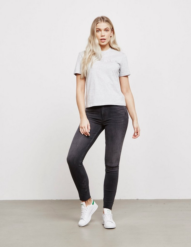 Calvin Klein Jeans Institutional Embroidered Short Sleeve T-Shirt