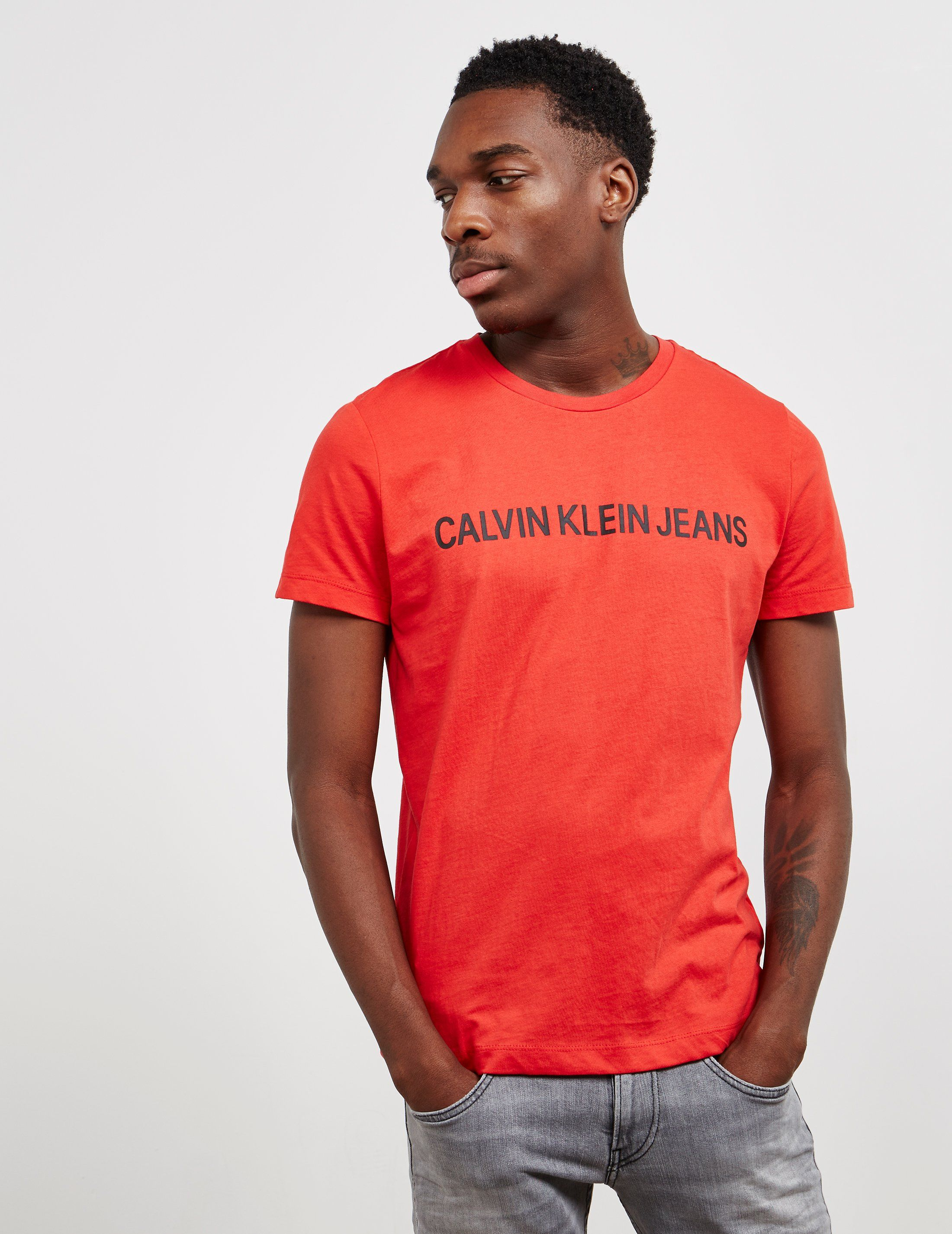 Calvin Klein Institutional Logo Short Sleeve T-Shirt