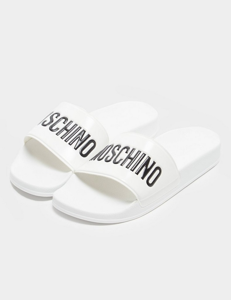 Love Moschino Logo Strap Slides