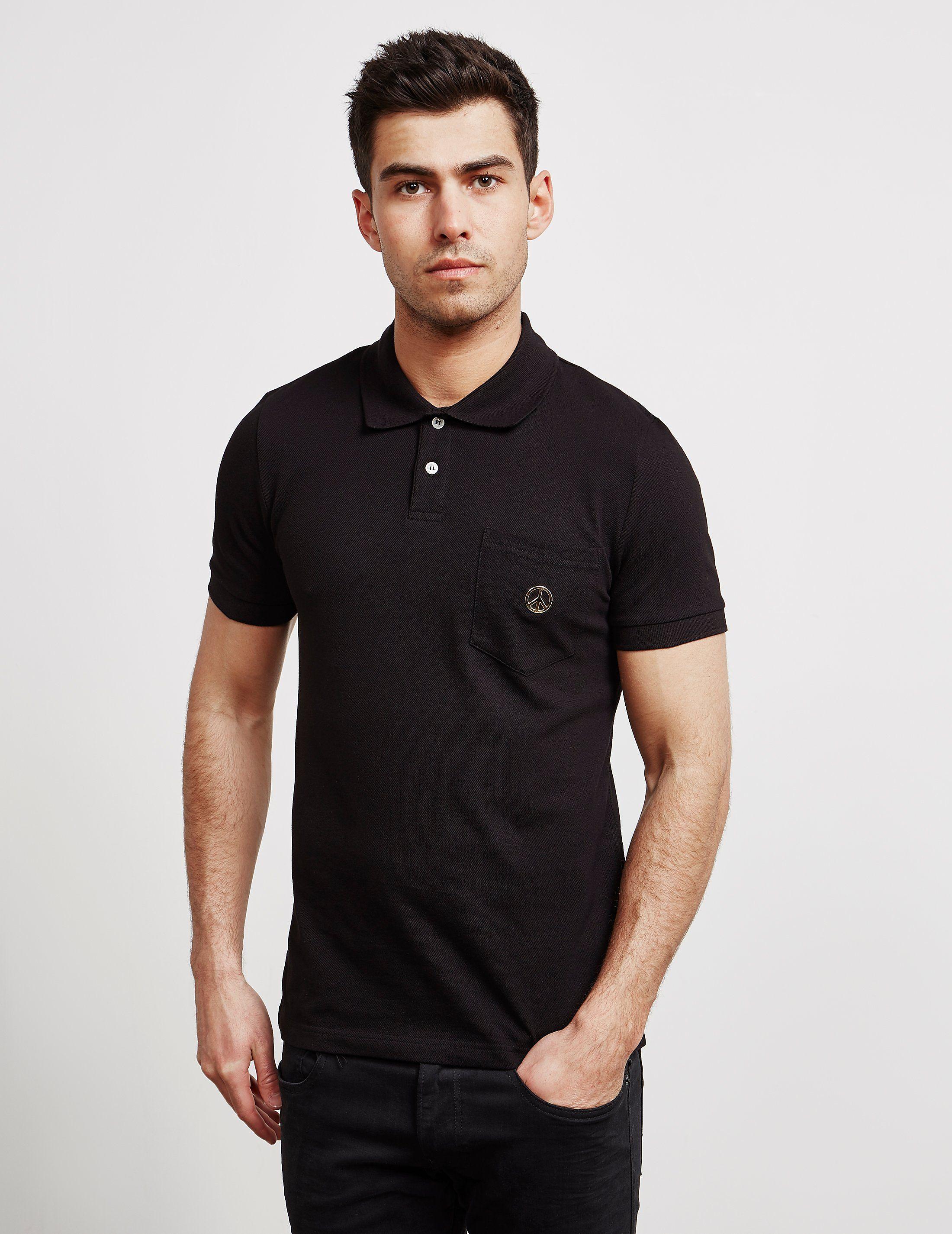 2d500d5e0 Love Moschino Peace Logo Short Sleeve Polo Shirt   Tessuti