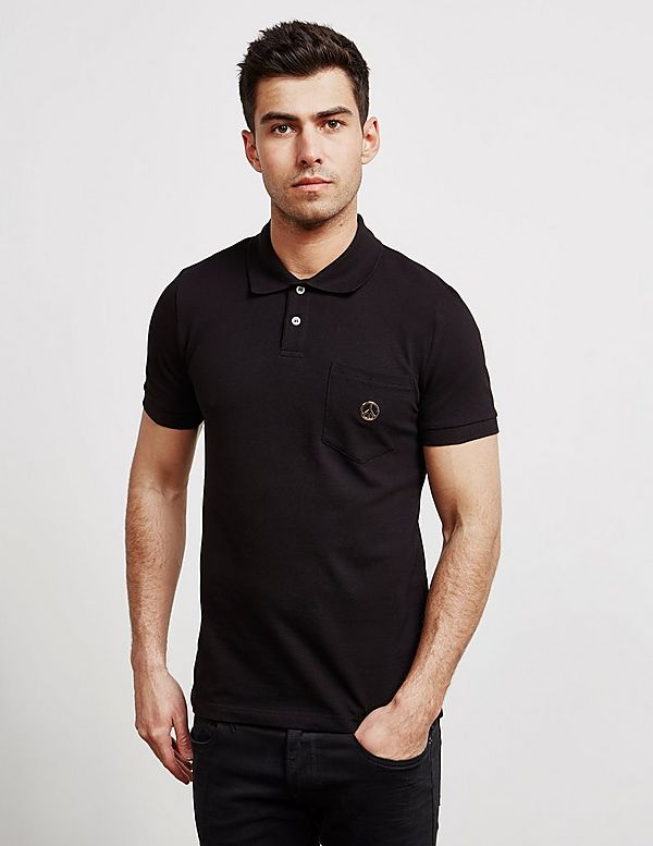 4850e4e73 Love Moschino Peace Logo Short Sleeve Polo Shirt | Tessuti