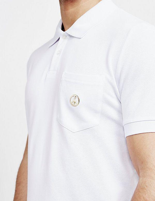 d8102227b Love Moschino Peace Logo Short Sleeve Polo Shirt