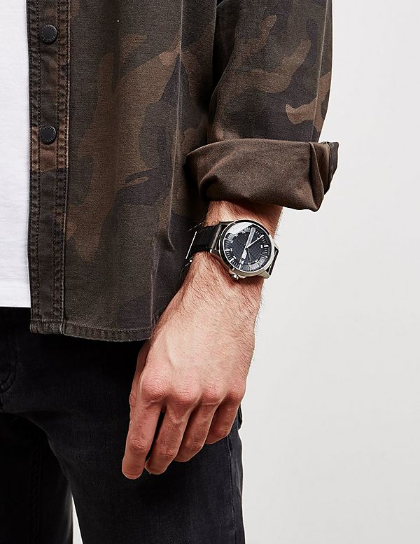 Armani Exchange Hampton Leather Watch