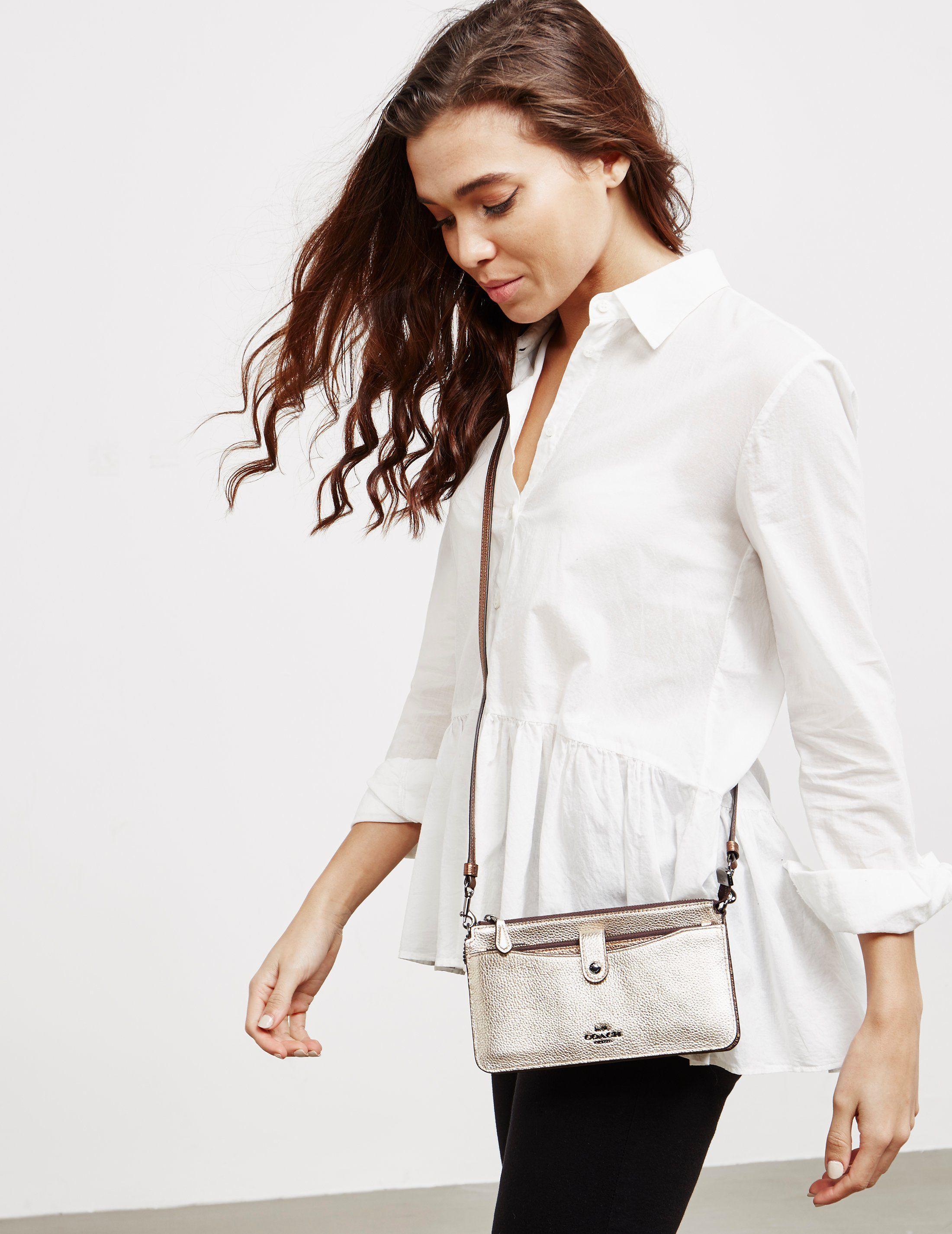 COACH Metallic Messenger Shoulder Bag
