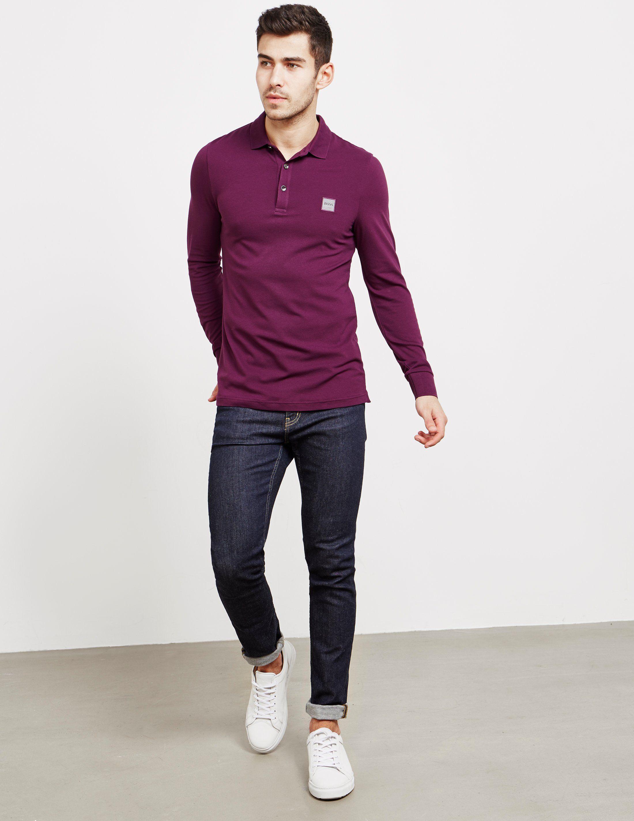 BOSS Passerby Long Sleeve Polo Shirt