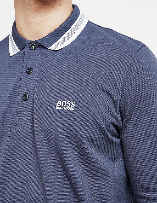 d3d297027 BOSS Plisy Long Sleeve Polo Shirt