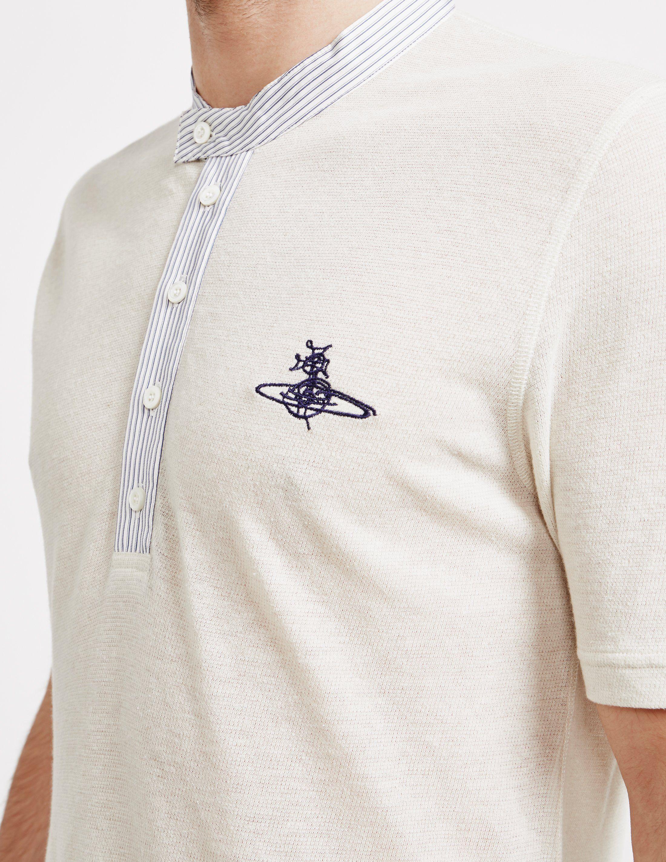Vivienne Westwood Hemp Short Sleeve Polo Shirt - Online Exclusive