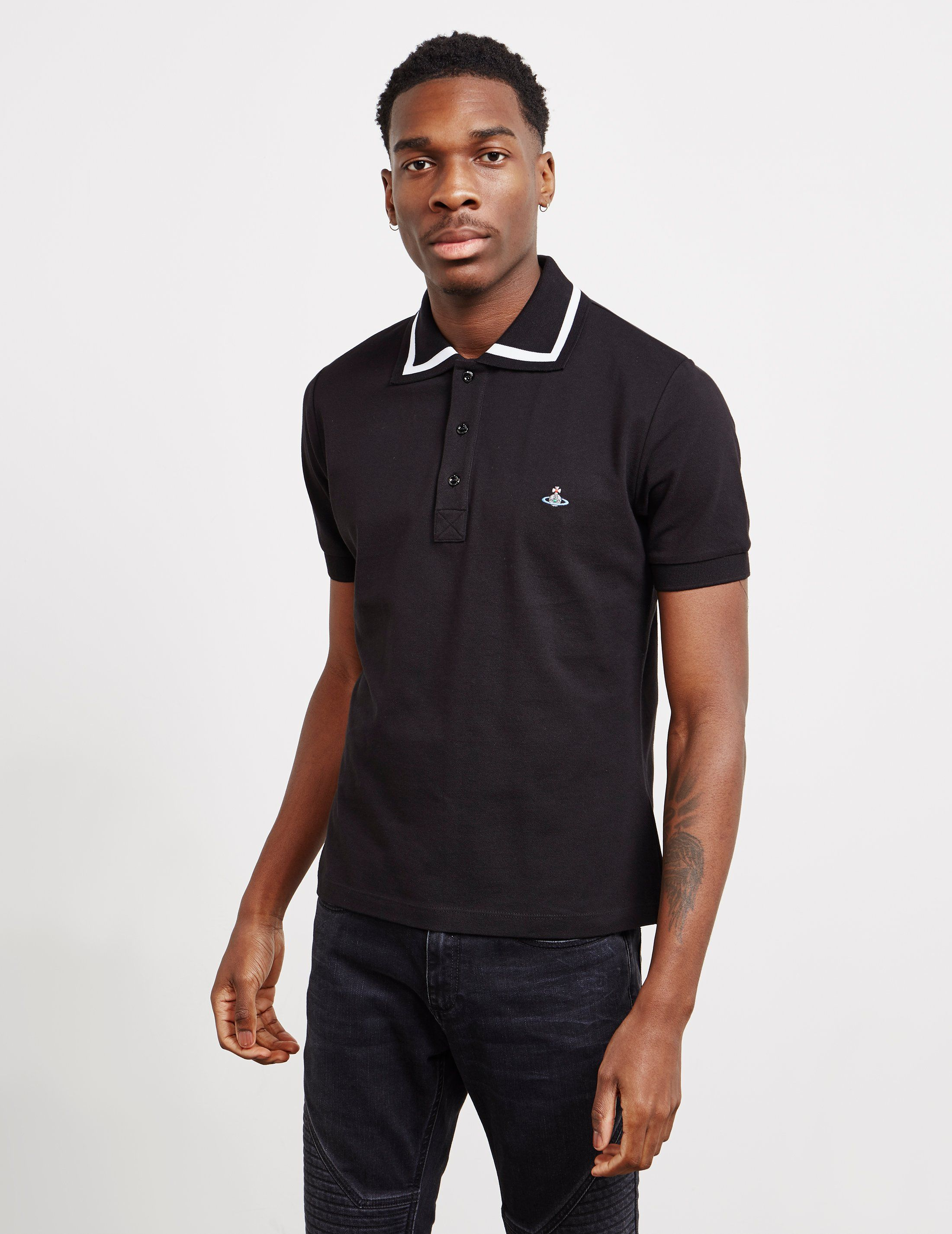 Vivienne Westwood Bold Tipped Short Sleeve Polo Shirt