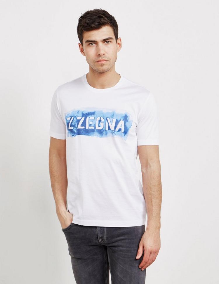 Z Zegna Large Logo Short Sleeve T-Shirt