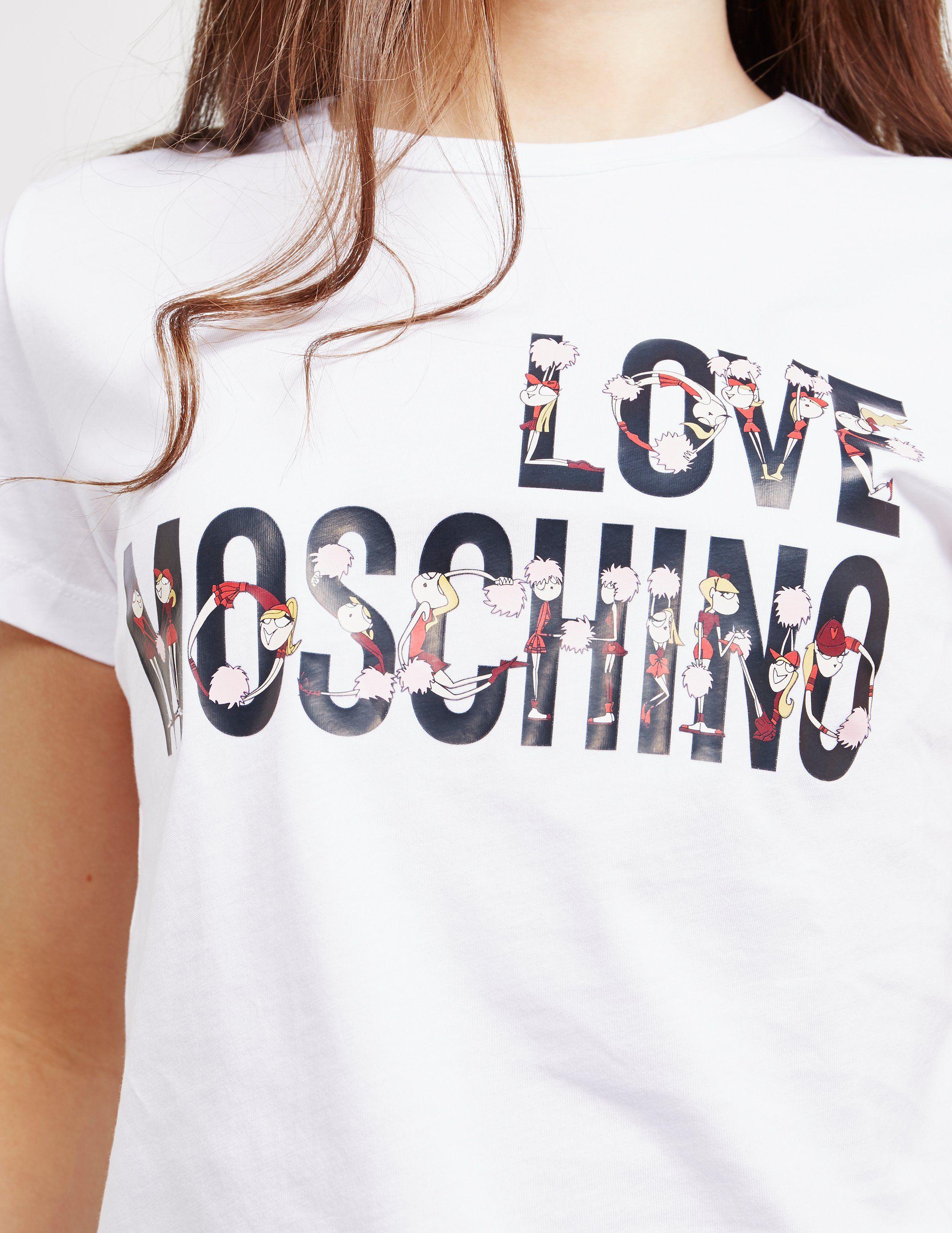 Love Moschino Cheer Short Sleeve T-Shirt
