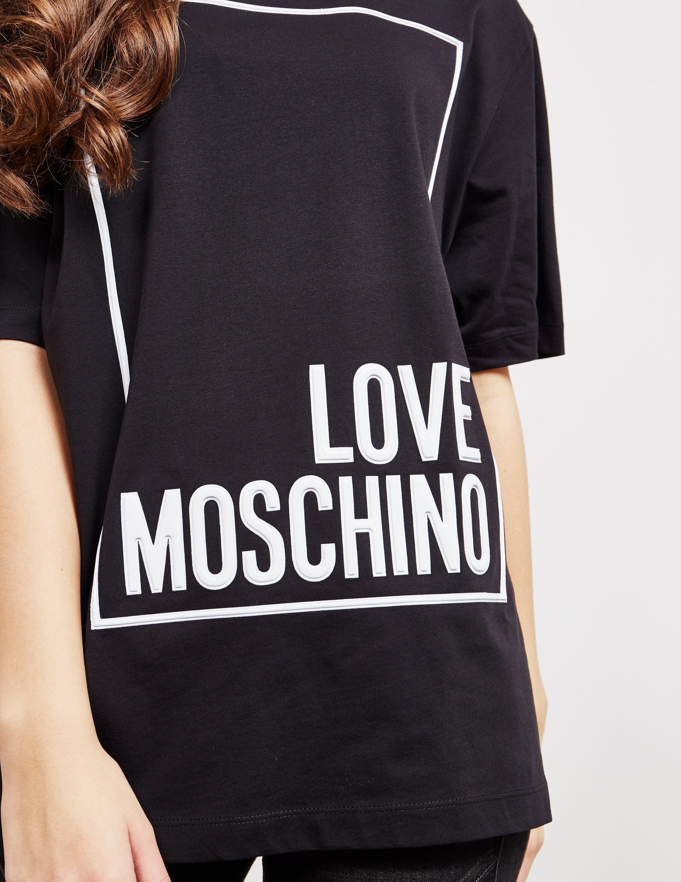 Love Moschino Logo Square Short Sleeve T-Shirt