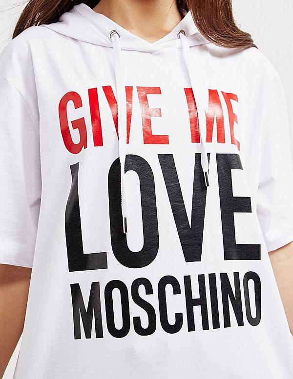 Love Moschino Give Me Love Short Sleeve Hoodie