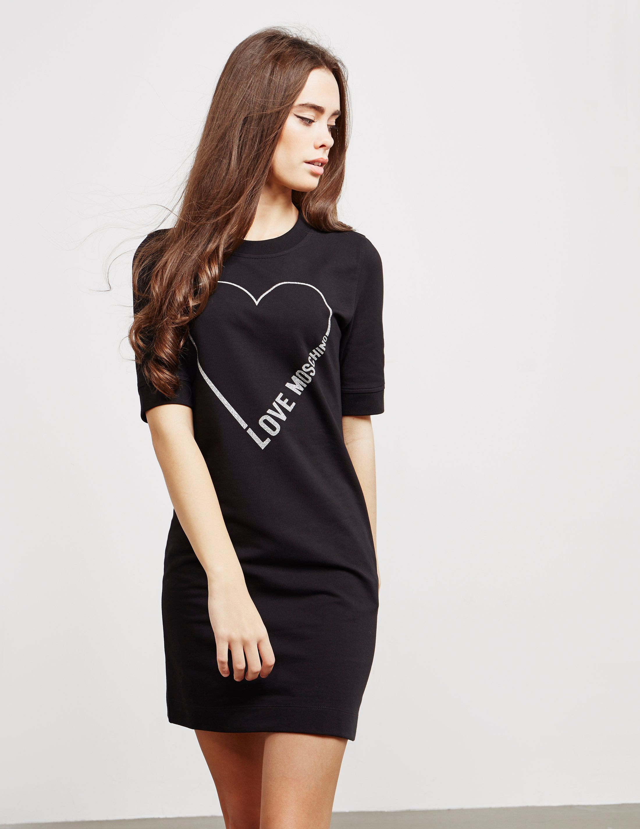 Love Moschino Glitter Heart Dress