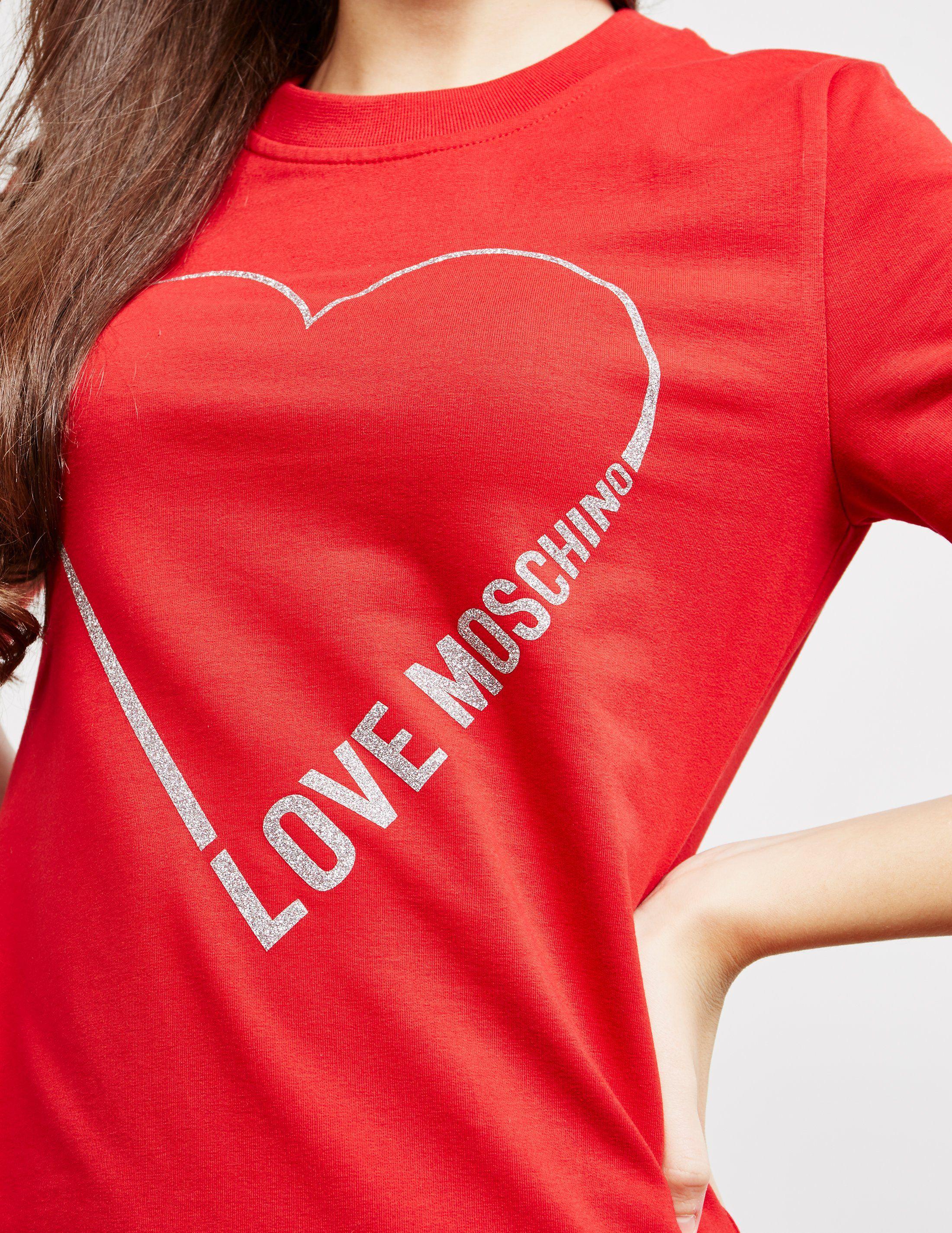 Love Moschino Glitter Heart Dress