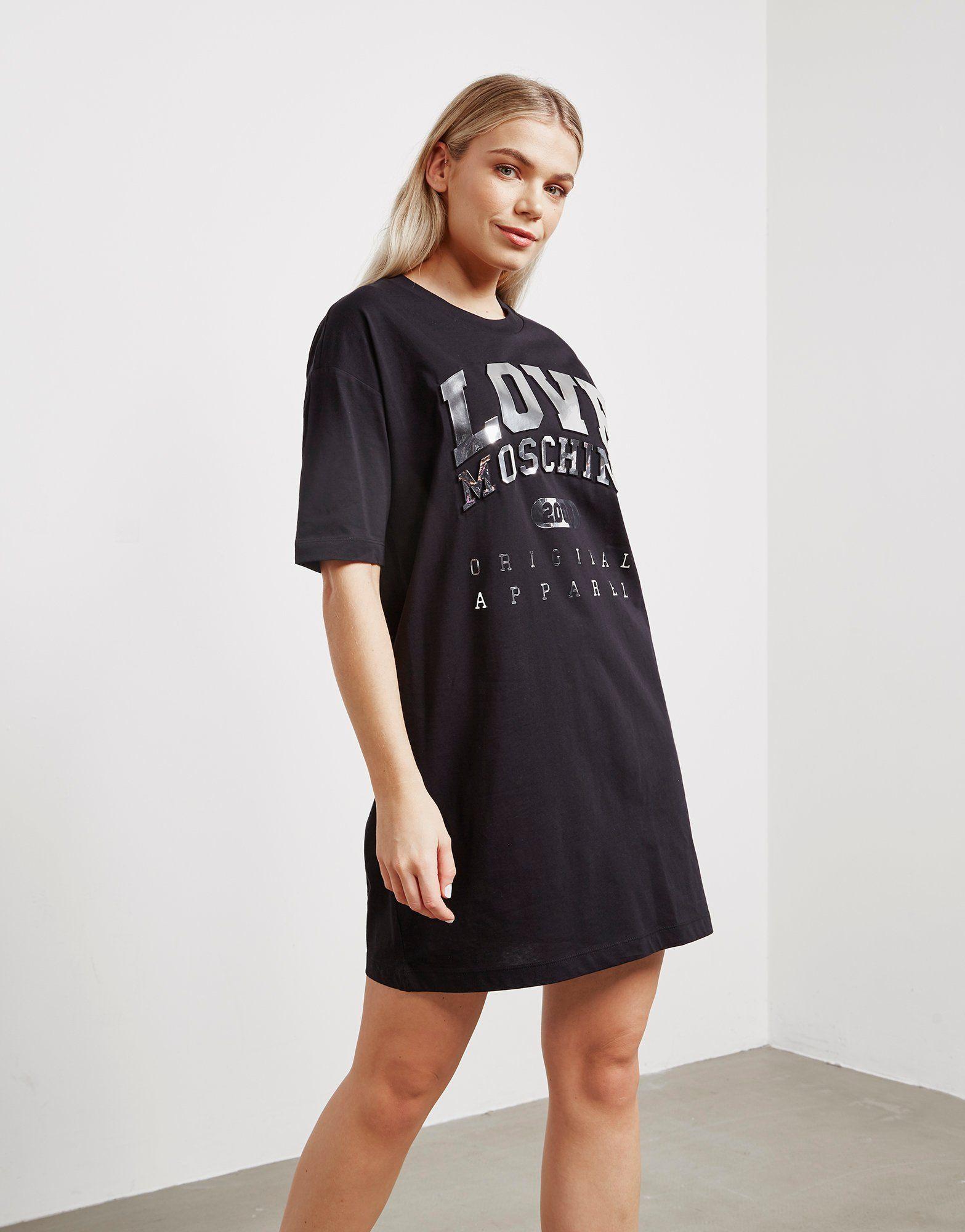 Love Moschino Logo Foil Dress