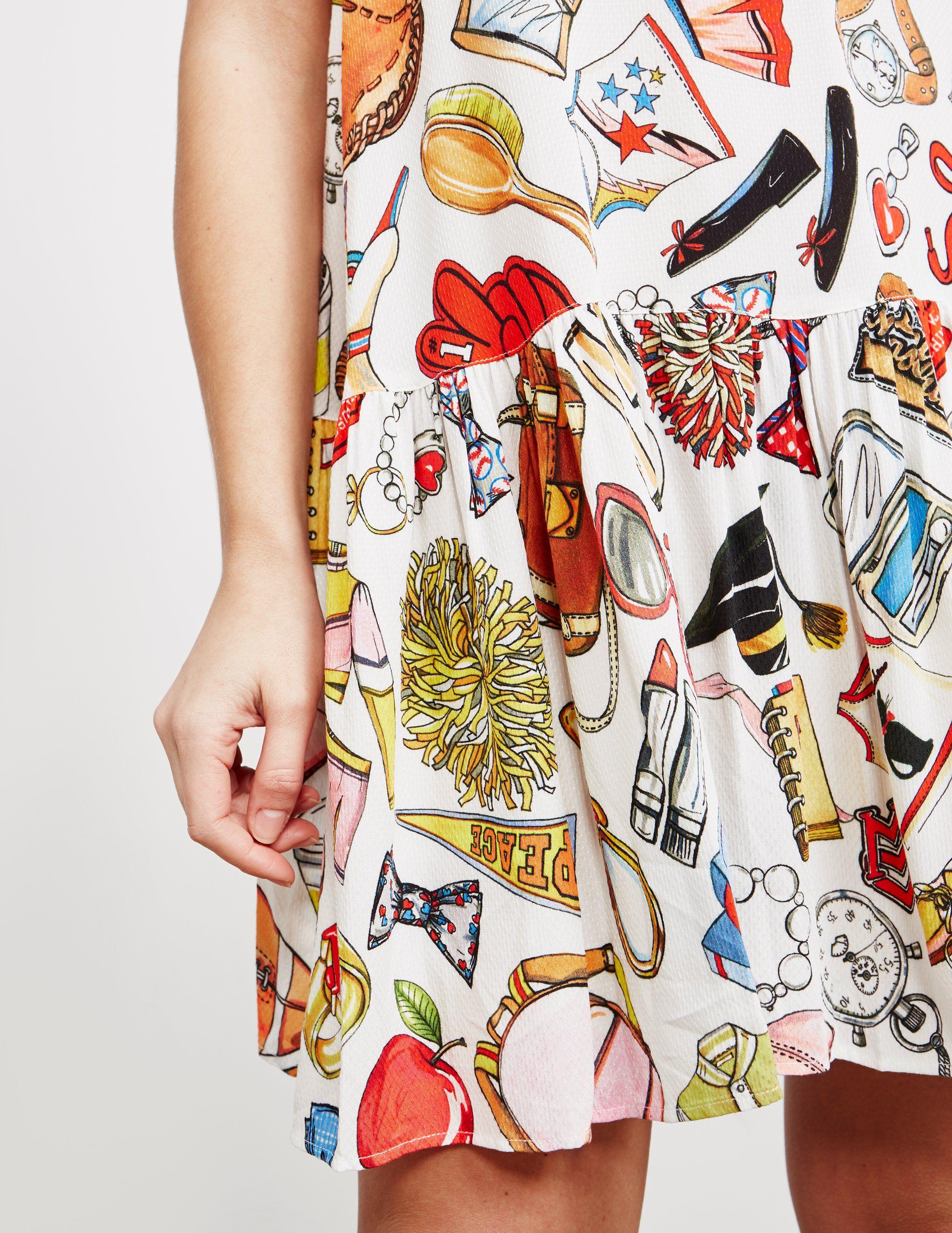 Love Moschino Campus Print Dress - Online Exclusive
